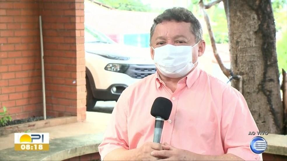 Presidente da Fundação Municipal de Saúde de Teresina, Gilberto Albuquerque — Foto: Reprodução/TV Clube