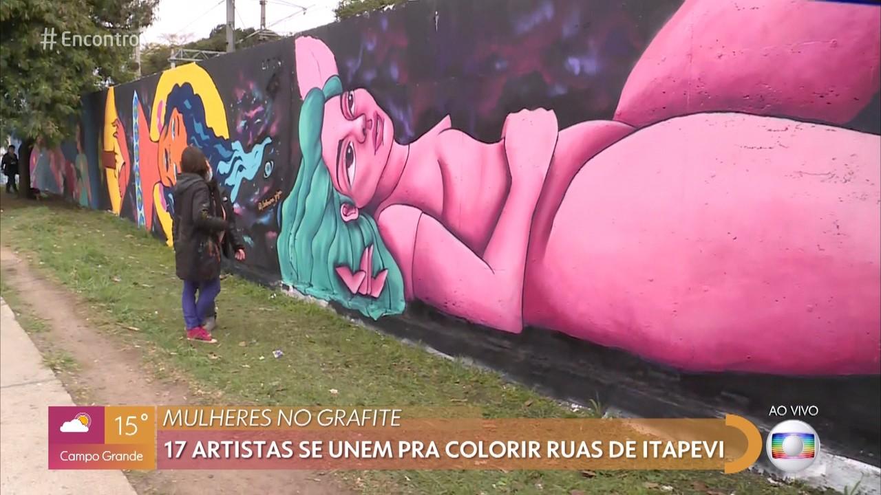 Mulheres no grafite: Homenagem nos muros de Itapevi