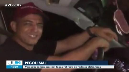 Vídeo de vereador comemorando retirada de radares em Canaã dos Carajás, no Pará, causa polêmica