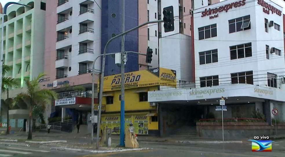 Semáforos da Avenida Marechal Castelo Branco em São Luís estão sem funcionar — Foto: Reprodução/TV Mirante