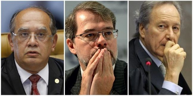 Gilmar Mendes, Dias Toffoli e Ricardo Lewandowski, ministros do Supremo Tribunal Federal (Foto: Arquivo Google)