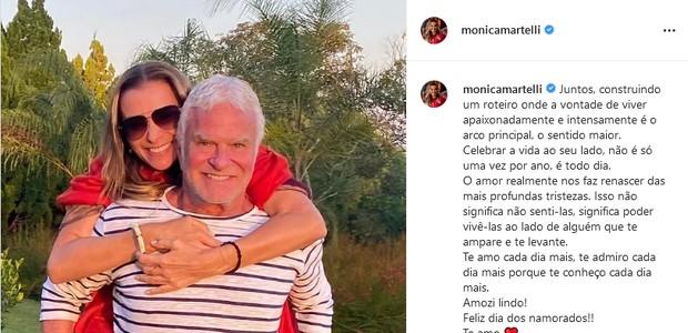 Monica Martelli e o namorado, Fernando Altério (Foto: Reprodução/Instagram)