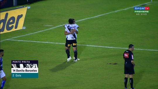 """Em alta após gol e assistência, Barcelos exalta espírito da Ponte com Kleina: """"Está gostoso de ver"""""""