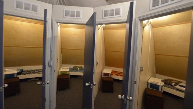 Os quartos da tripulação (Foto: Divulgação/Hi-Seas)