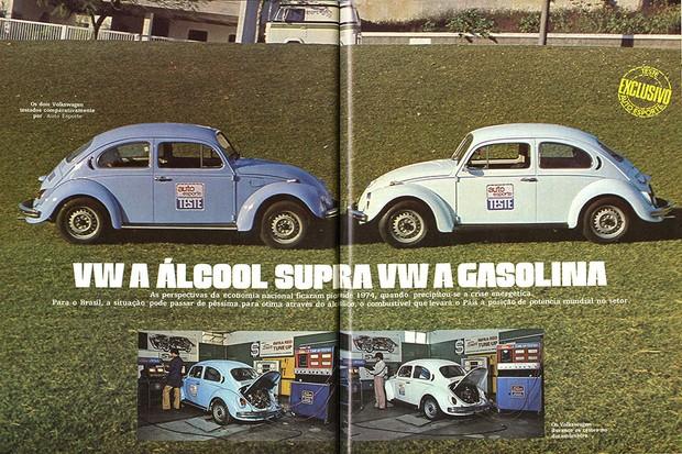 Reprodução de foto da matéria: VW a álcool supera VW a gasolina (Foto: Autoesporte)