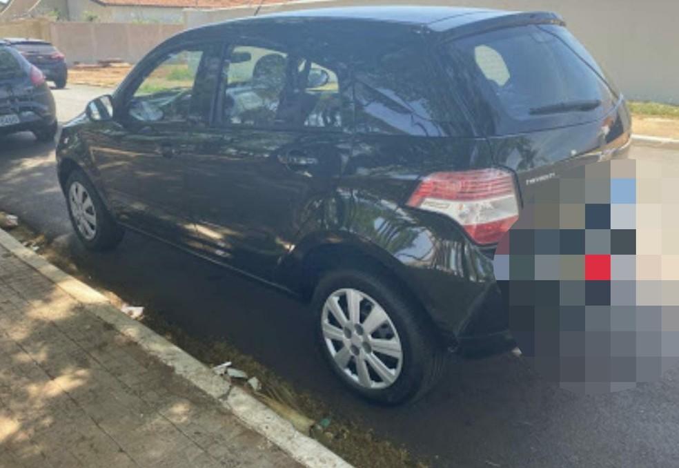 Carro que o idoso tentava comprar por meio de um anúncio na internet — Foto: Divulgação/Polícia Militar