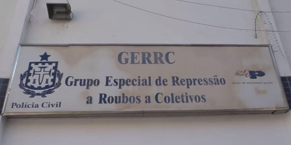 Grupo Especial de Repressão a Roubos em Coletivos (Gerrc) — Foto: Reprodução/TV Bahia
