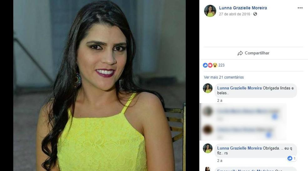 Lunna Grazielle se formou na PM há 15 dias em Diamantina (Foto: Facebook/Reprodução)