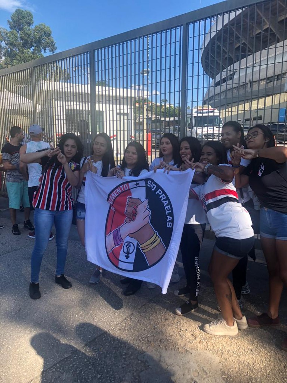 """Torcedoras do São Paulo , do movimento """"Sãopraelas"""" — Foto: Felipe Ruiz"""