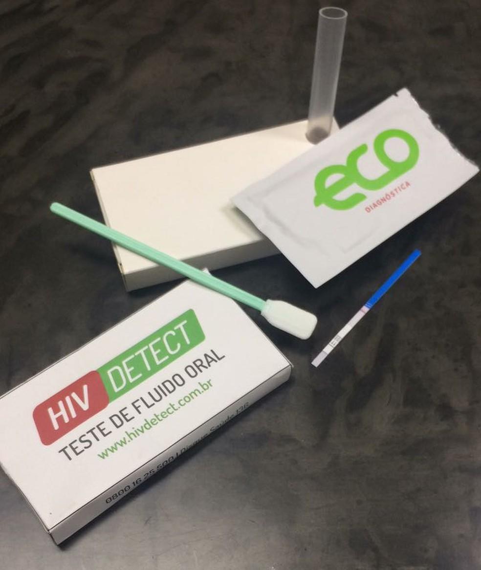 'HIV Detect Oral' é um dos novos produtos disponíveis (Foto: Eco Diagnóstica/Divulgação)