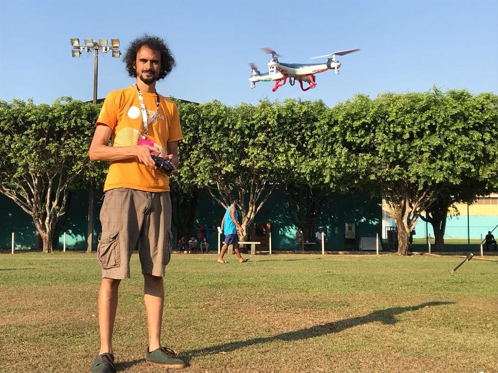 Carlos é o curador na competição na CPRO (Foto: Sérgio de Andrade/ CBN)