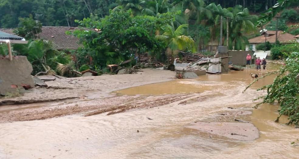 Ibirama, no Vale do Itajaí, também registrou ocorrências — Foto: Defesa Civil de Ibirama/Divulgação