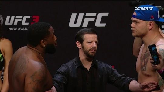 Justin Willis e Chase Sherman passam pela pesagem do UFC Atlantic City