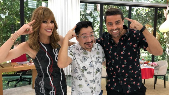 Ana Furtado e Ricardo Pereira testam a criatividade nos bastidores do 'Mais Você'