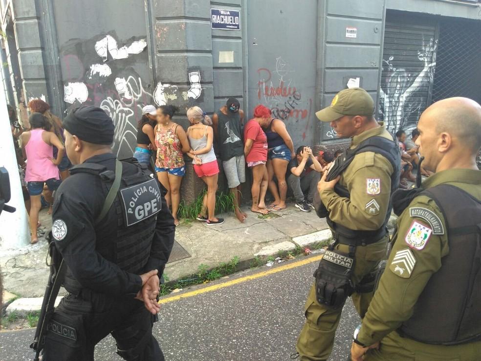 Operação contra o tráfico de drogas prende 30 pessoas no bairro da Campina, em Belém (Foto: Ascom/Segup)