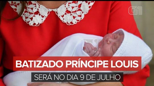 Príncipe Louis, terceiro filho de William e Kate, será batizado na segunda-feira