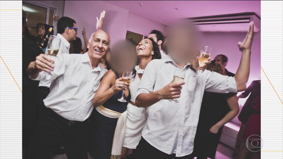 Antônio Zumpichiatti e a filha Gabriella se divertindo em uma festa — Foto: Reprodução/Arquivo Pessoal