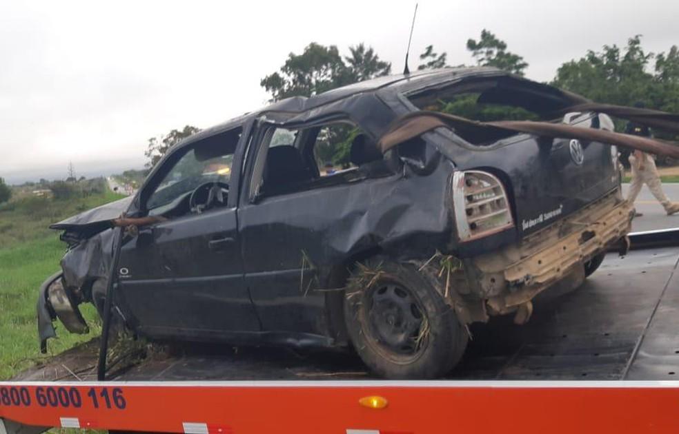 Suspeita é de que o jovem cochilou ao volante — Foto: Divulgação/PRF