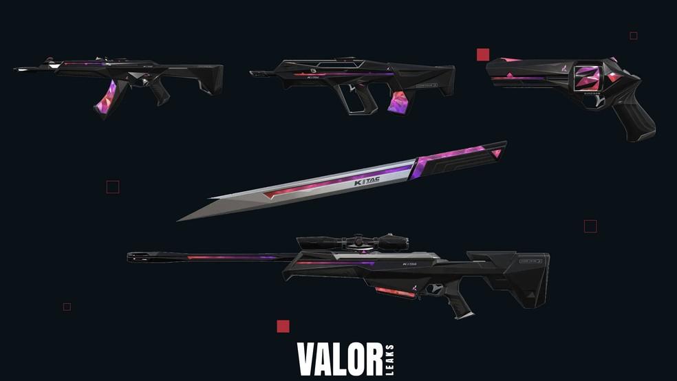 Linha K/TAC é composta por Vandal, Bulldog, Sheriff, Operator e Combate  — Foto: Reprodução/Valorleaks