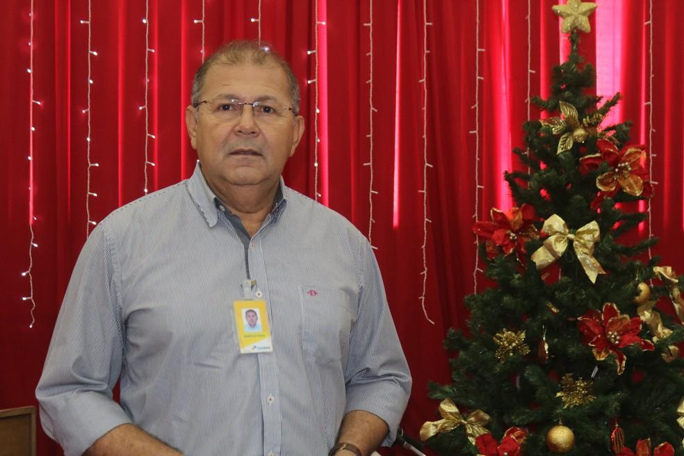 Valdivino Silva, coordenador da campanha Papai Noel dos Correios, em Teresina — Foto: Gilcilene Araújo/G1