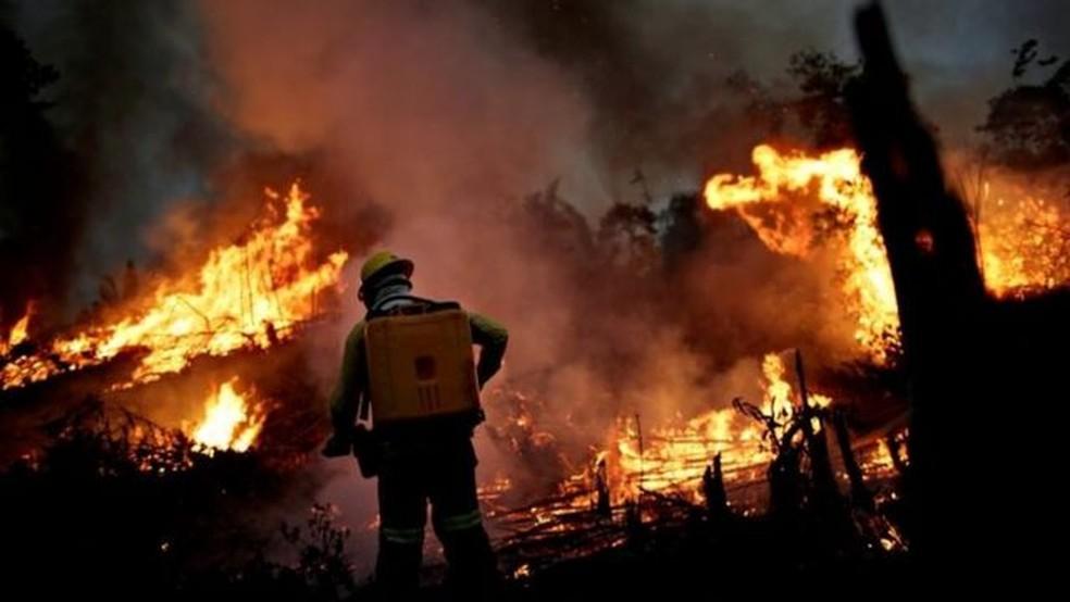 Queimadas na Amazônia — Foto: Reuters via BBC