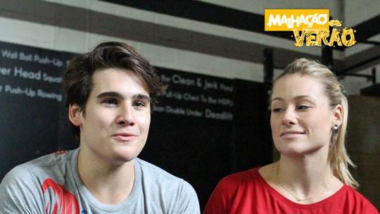 Nicolas Prattes pratica crossfit com a mãe, que entrega: 'Era gordinho'