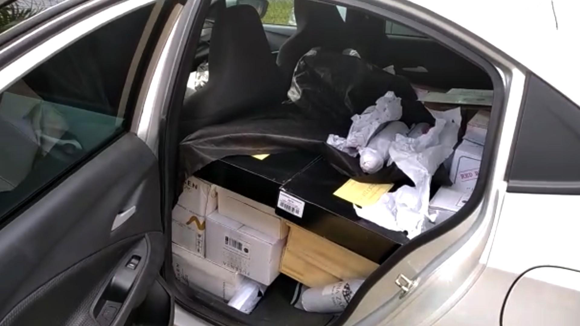 Em carro alugado, homem é abordado com 400 garrafas de vinhos argentinos, em Guarapuava, diz PRF