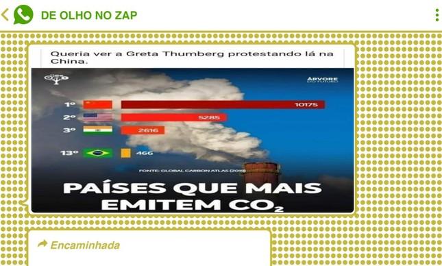 Apoiadores de Bolsonaro usaram gráficos de emissões de gases poluentes para defender Brasil da pecha de 'vilão do clima' , ignorando que o principal tema era a degradação da Amazônia