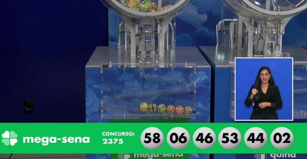 Resultado do concurso 2.375 da Mega-Sena — Foto: Reprodução/Facebook/Loterias CAIXA