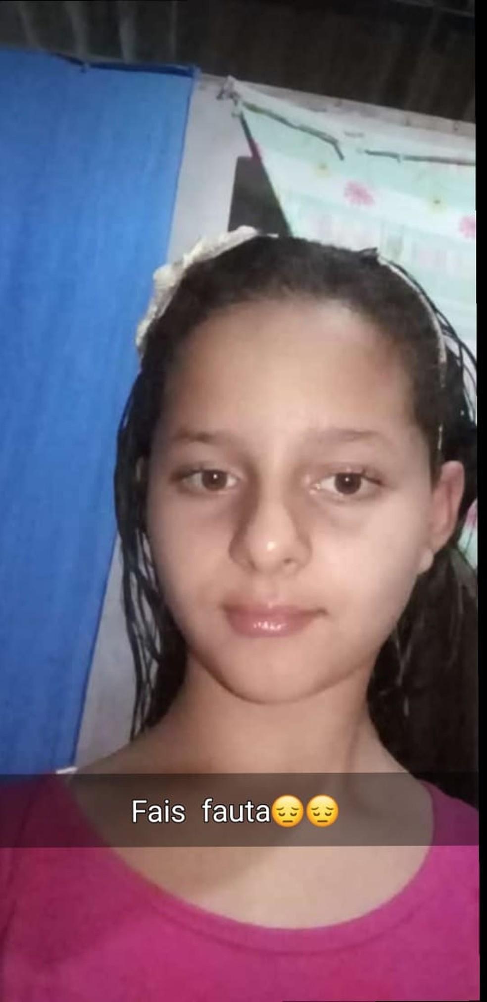 Paula Vitória Hippler dos Santos, de 10 anos, morreu atingida por raio em Brasnorte — Foto: Arquivo pessoal