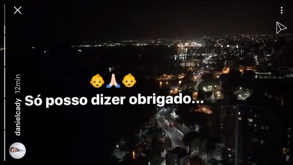 Marido de Ivete faz postagem agradecendo, após cantora confirmar gravidez (Foto: Reprodução/Instagram)