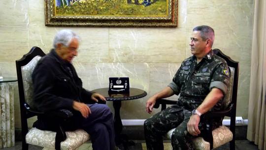 Fernando Gabeira entrevista o general Walter Braga Netto