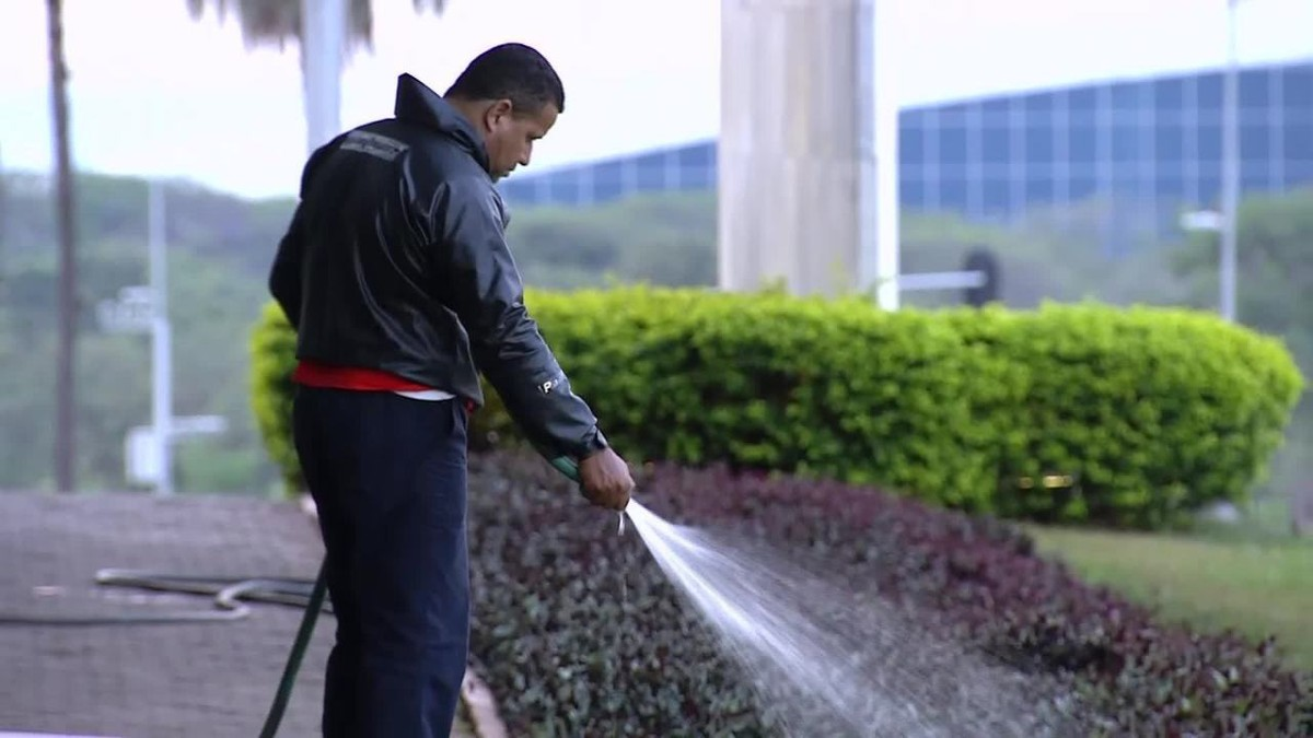 Em meio à pior crise hídrica do DF, Palácio do Buriti usa água para irrigar jardim