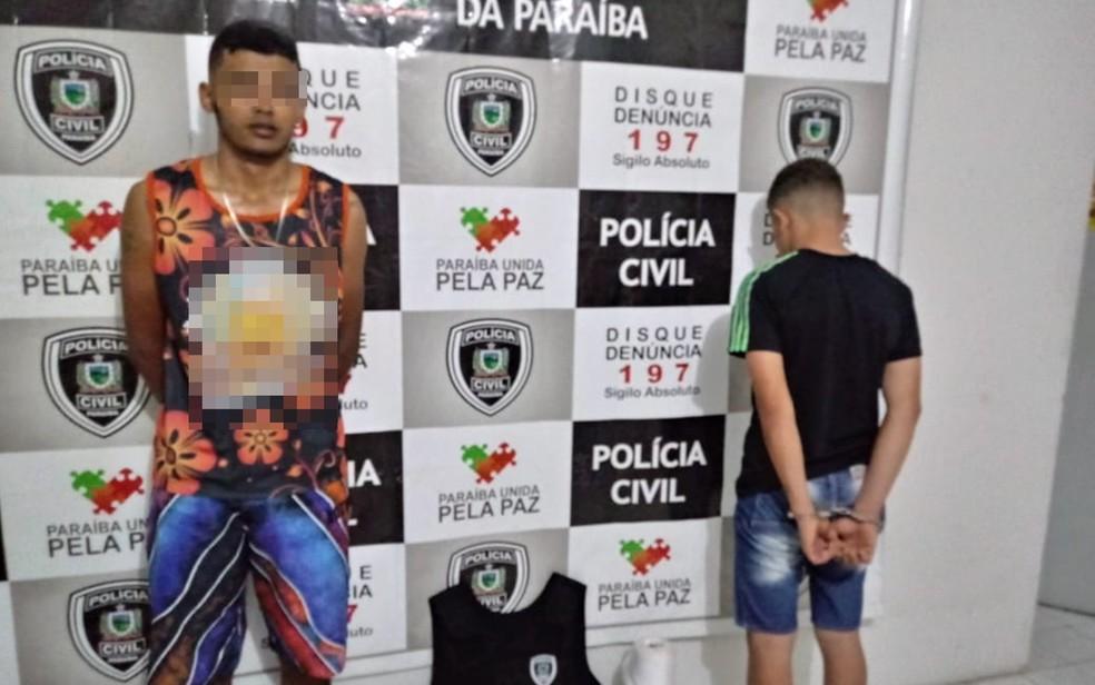 Polícia Civil prendeu homem de 19 anos e apreendeu adolescente de 16 anos no Sertão da Paraíba — Foto: Sylvio Rabelo/ Polícia Civil