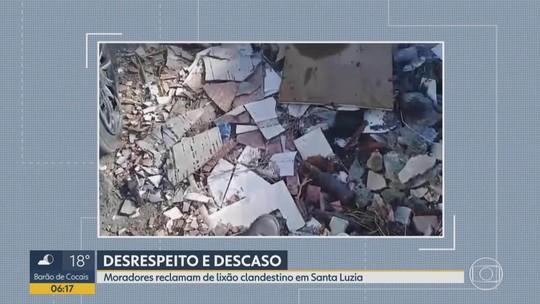 Moradores reclamam de lixão clandestino em Santa Luzia