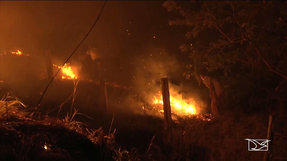 Mais de 2.000 focos de queimadas são registrados no Maranhão, diz INPE  — Foto: Reprodução/TV Mirante
