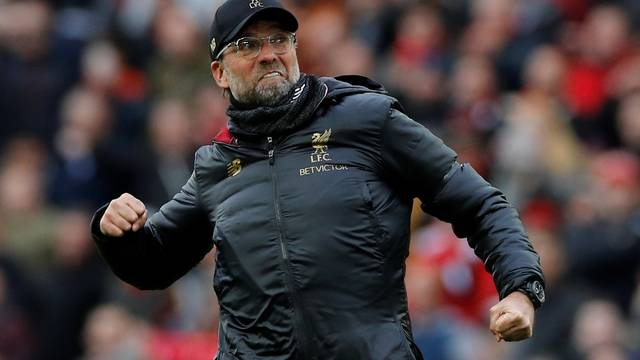 Jürgen Klopp comemota a vitória do Liverpool