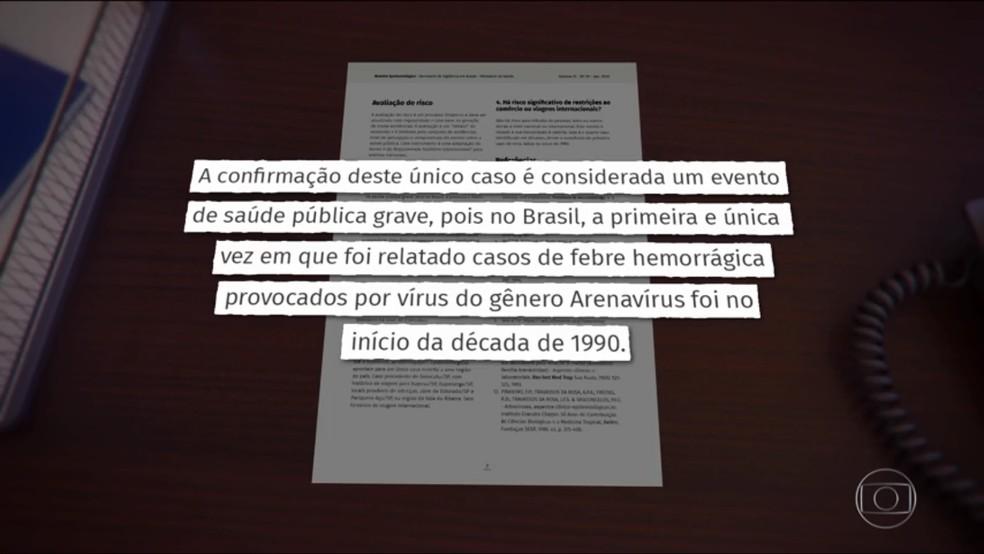 Febre hemorrágica foi registrada no interior de SP pela primeira vez nos últimos 20 anos — Foto: TV Globo/Reprodução