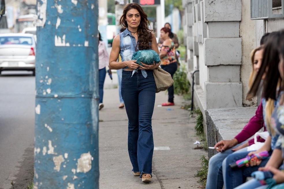 Juliana Paes grava cena como Bibi para nova fase de 'A Força do Querer' (Foto: Fábio Rocha/Gshow)