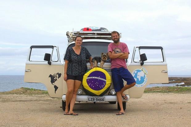 O casal já passou por 7 países em suas aventuras (Foto: Divulgação)