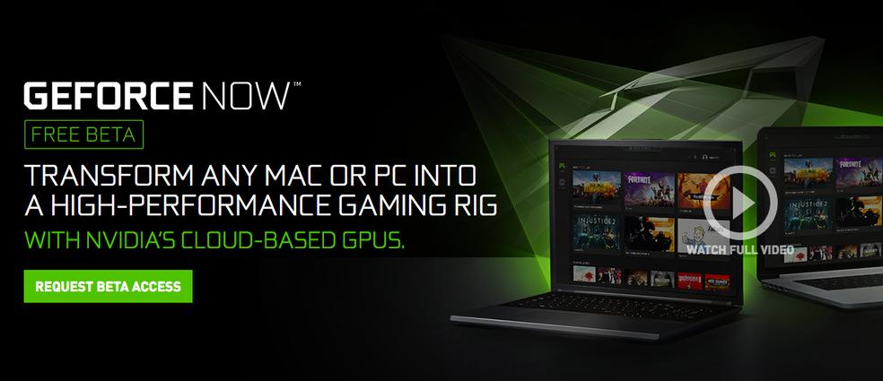 Beta para o GeForce Now está aberto (Foto: Reprodução/Felipe Vinha)
