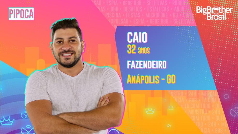 Caio é participante do 'BBB21' — Foto: Divulgação/Globo