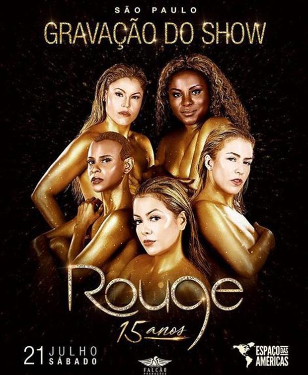 Cartaz do show do Rouge (Foto: Reprodução/Instagram)