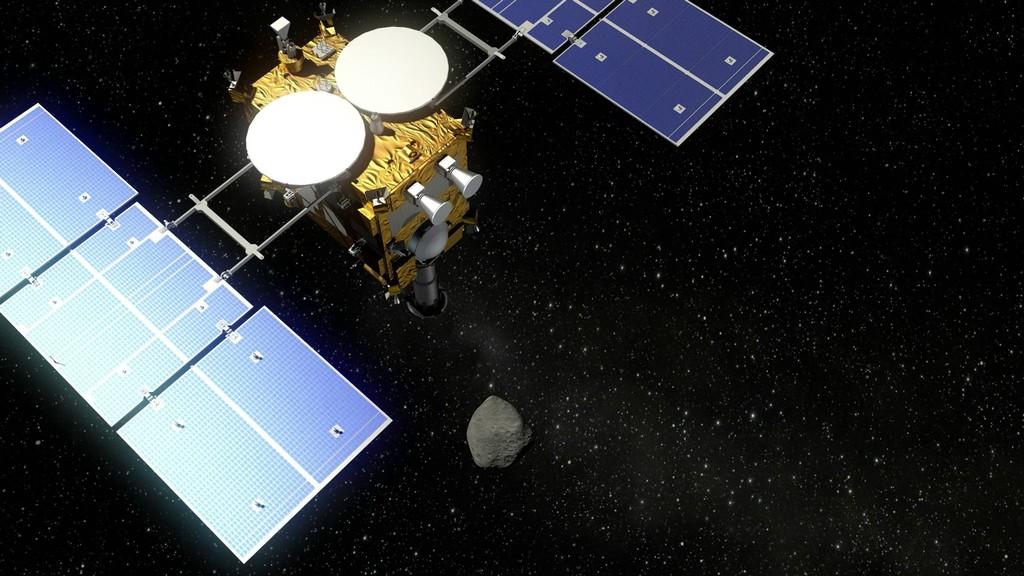 La sonda japonesa Hayabusa 2 (Foto: Deutsches Zentrum für Luft- und Raumfahrt (DLR) / Wikimedia Commons)