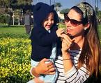 Fernanda Machado com o filho Lucca | Reprodução