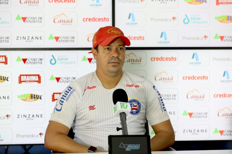 Dado Cavalcanti falou sobre partida contra o Ceará, marcada para sábado — Foto: Felipe Oliveira / Divulgação / EC Bahia