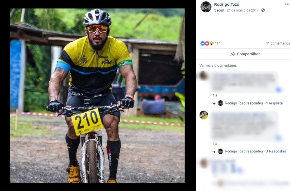 Rodrigo Tozo não resistiu aos ferimentos e morreu no local do atropelamento em Rio Preto — Foto: Reprodução/ Facebook