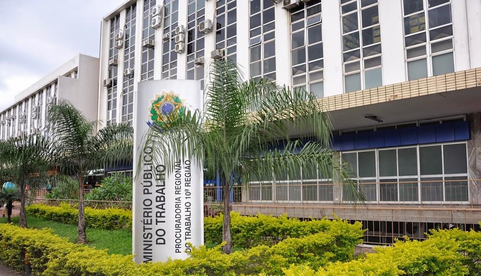 Fachada do Ministério Público do Trabalho no DF (MPT-DF) — Foto: Messias Carvalho/MPT-10