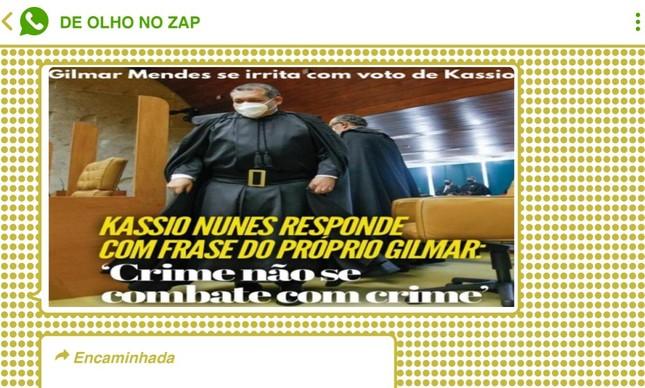 Voto do ministro Kássio Nunes a favor do ex-juiz Sérgio Moro causou surpresa entre bolsonaristas