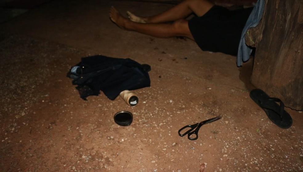 Marina Garcia foi encontrada morta na casa onde morava com o filho — Foto: Cáceres Notícias